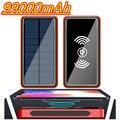 99000 мА/ч, Мощность банк Беспроводной зарядный Солнечный Батарея Панель Мощность банка большой емкости мобильный телефон Зарядное устройств...