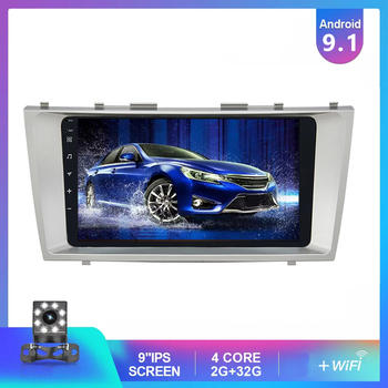 JOYINCAR Android 9.1 2G+32G Car Radio Multimedia Video Player Navigation GPS 2 Din For Toyota Camry 40 50 2007- 2011 NO DVD image