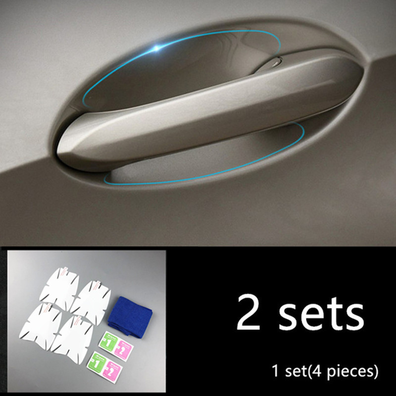 2 Sets Car Door Bowl Protective Film Transparent Stickers For BMW X5 G05 X3 X4 G01 G02 5 series G30 Exterior Auto Accessories
