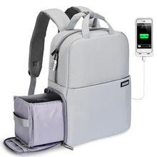 Mochila de cámara CADeN DSLR bolsa de ordenador portátil compartimento impermeable antirrobo con puerto de carga USB cubierta de lluvia para Canon Nikon sony