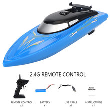 цена на 2.4G RC High Speed Boat Electric Yacht Remote Control Twin Motor Children Outdoor Racing Boat Mini Water Toys for Kids Gift