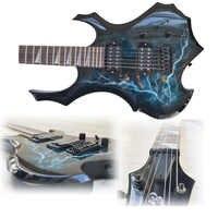 Guitarra acústica eléctrica de madera con forma de Sycamore con Amp incluye todos los accesorios Kit de Inicio principiante de 24 posiciones
