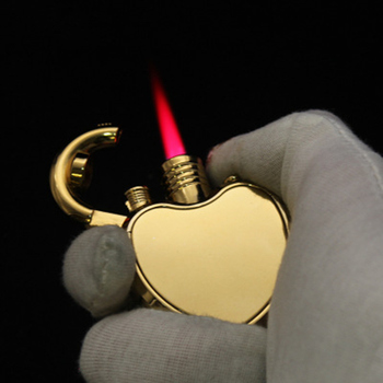 2019 New Compact Heart  Jet Lighter Butane Turbo Torch Lighter Creative 1300 C Windproof Lighter Inflated  NO GAS moonlight sword creative windproof lighter bronze