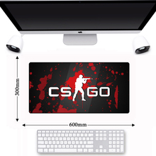 Non-slip Lockedge Game Gamer Gaming CS GO Computer Mouse Pad Laptop Notebook Keyboard Mousepad Office Desk PC Mice Mat 600*300mm 63 33 large soft felt cloth desktop mouse pad keyboard office laptop notebook pc table mat home office computer desk mousepad