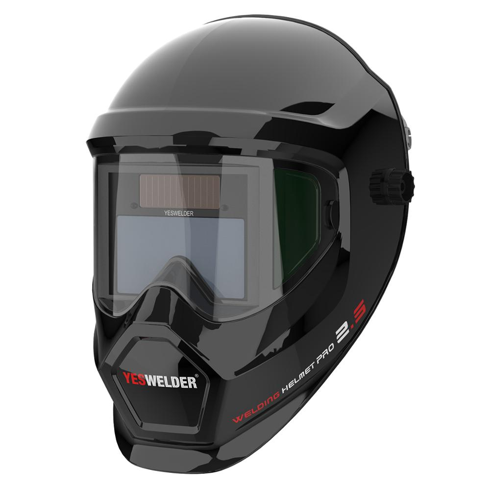 Image 4 - YESWELDER Anti Fog Up True Color Welding Helmet Solar Powered Auto Darkening Weld Mask with Side View for TIG MIG ARC LYG S400S-in Welding Helmets from Tools
