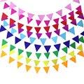 8 м, 18 флагов, красные, оранжевые, синие, желтые, белые флаги для вечеринки, красивые украшения для детской вечеринки, уличная гирлянда, украше...
