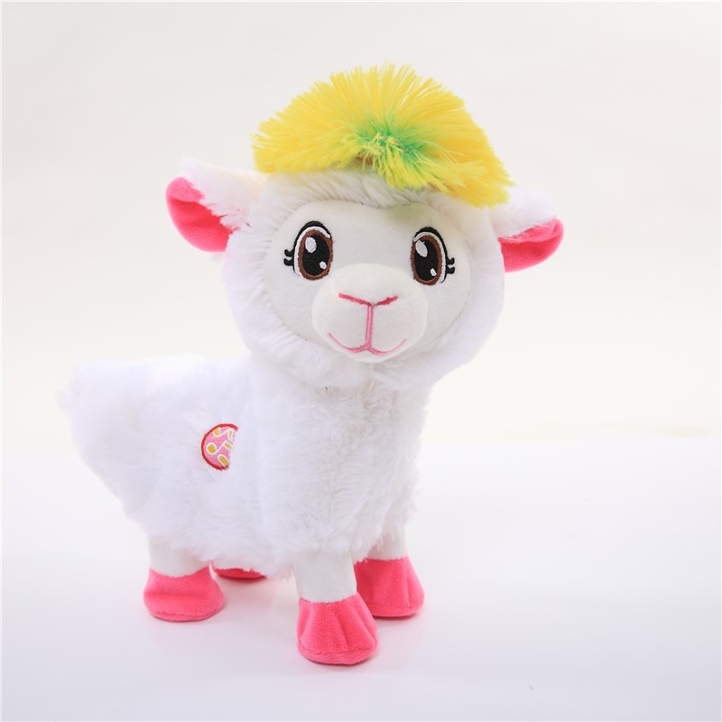 ZuruPets Alivee Alpaca Llama Music Foreign Trade Explosion Models Twisted Ass Toy Alpaca Grass Mud Horse Plush Electric toy Gift in Movies TV from Toys Hobbies