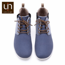 UIN Perth Series Autumn/Winter Boots Women Microfiber Suede Ankle Boots White/Blue Ladies Casual Flat Shoe Outdoor Fashion Boots(China)