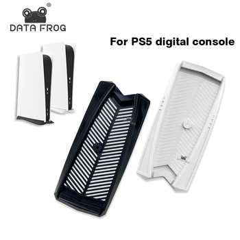 Data Frog Vertical Stand Built-in Cooling Vents with Non-slip Feet For SONY PS5 Digital Edition Game Console Dock Mount Holder ootdty vertical stand mount holder dock cradle for ps4 pro game accessories console