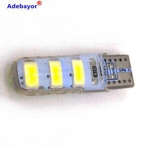 Image 2 - 100pcs סיטונאי T10 סיליקון מקרה 6 SMD 5630 LED רכב כיפת אור W5W 194 6LED 6SMD 5730 LED טריז חניית מנורת הנורה 12V 100X