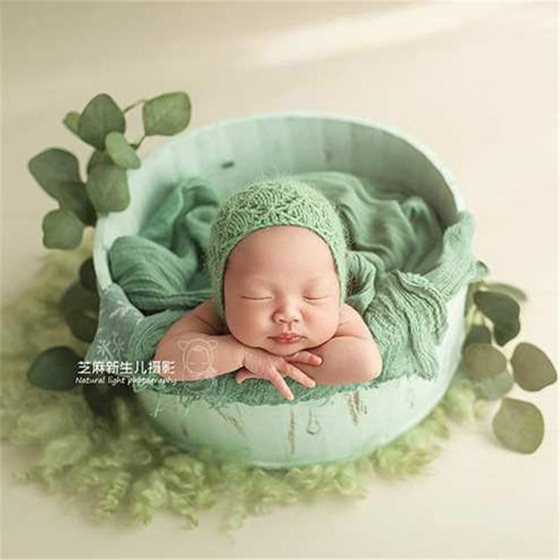 Acessórios de Fotografia de recém-nascidos Bebe Menino Posando Bebê Cesta de Madeira Retro Accessoire Fotografis Tiro Foto Sofá Adereços Recém-nascidos