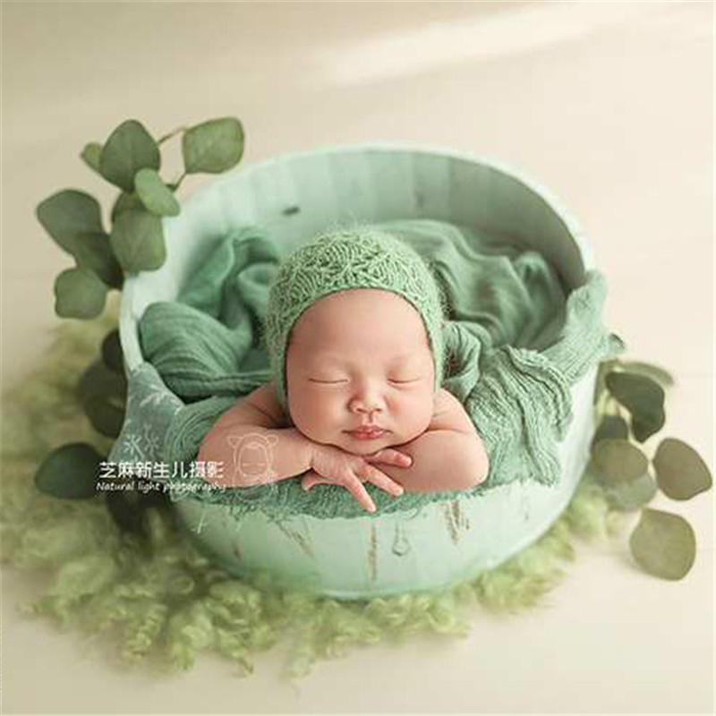 Newborn Photography Accessories Boy Baby Posing Wood Basket Retro Accessoire Bebe Shooting Photo Sofa Newborn Props Fotografis