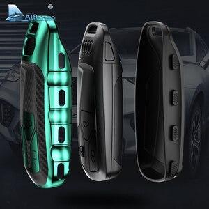 Image 3 - AIRSPEED funda protectora de fibra de carbono para llave de coche, cubierta protectora, para Audi A4, A4L, A6L, A5, B9, Q5, Q7, TT, TTS, 8S, S5, S7