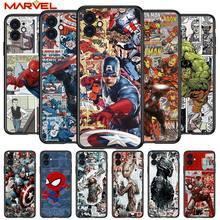 Spiderman captain america for Apple iPhone 12 Pro Max Mini 11 Pro XS Max X XR 6S 6 7 8 Plus 5S SE2020 Soft Black Phone Case