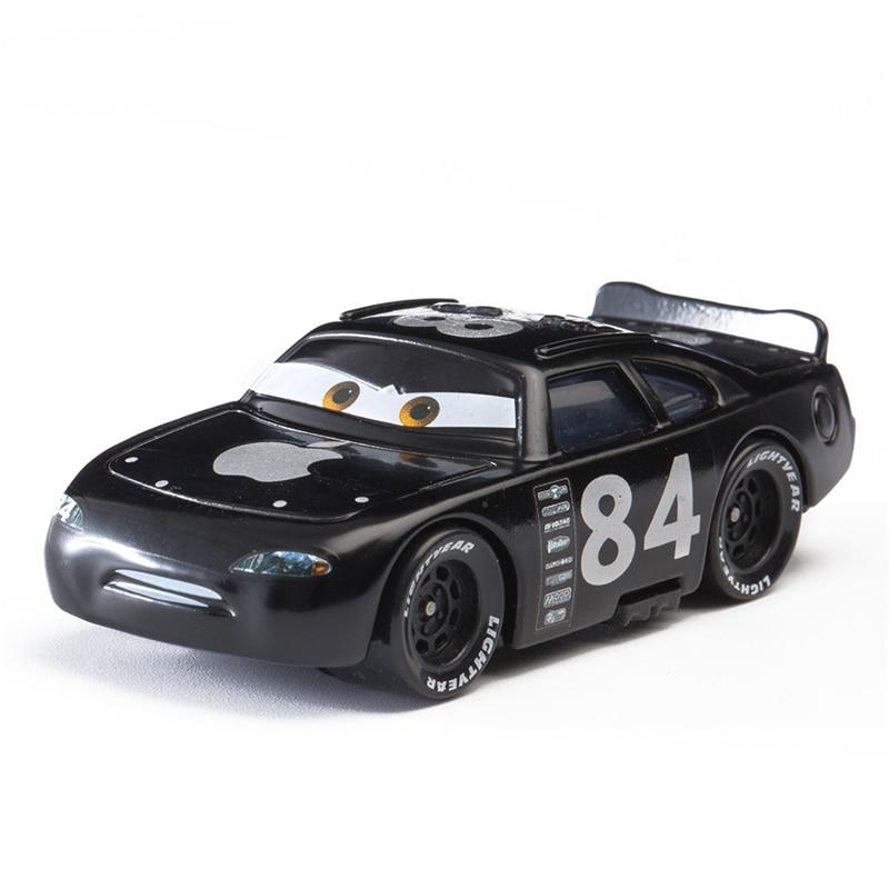 Car Diney Pixar Car  3 Role Black Apple Lightning McQueen Jackon Torm Mater 1:55 Diecat Metal Alloy Model Car Toy Kid