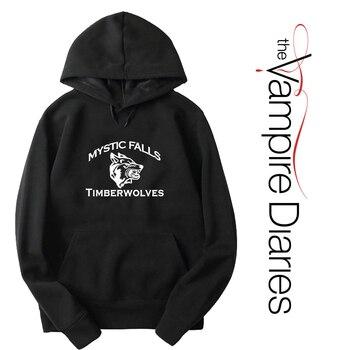 hoodies The Vampire Diaries Luminous Long Sleeve Hoodies Autumn Cool Sweatshirt Fashion Casual Hoodies Women Men Clothing Loose Hoodies