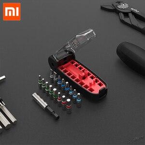 Image 3 - Xiaomi Wiha 17 في 1 وجع مفك بت كيت المغناطيسي التمساح الفم شكل البسيطة المحمولة جيب مفك مجموعة أداة إصلاح