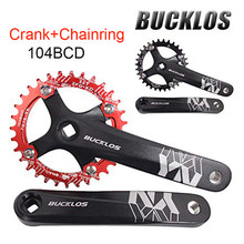 SNAIL 104BCD Chainring 170mm Bike Crankset Single Double Plate Square Hole crank For 8 9 10 11 speed chain Cycling Accessories