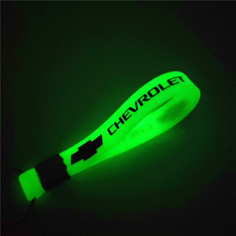 Luminous Green Car Keychain KeyRing For Chevrolet Cruze TRAX Aveo Lova Sail EPICA Captiva