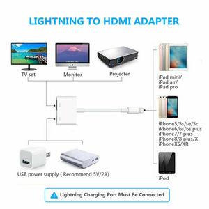 Цифровой av адаптер Lightning Кабель для Apple iPad iPhone 5, 6, 7, 8, X XS переходник синхронизации передачи видео OTG, совместимому с HDMI|Коннекторы и разъёмы|   | АлиЭкспресс