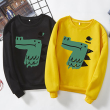 Fashion Women men Young Couple shirts animal alligator Kawaii Lover Clothing Long Sleeve Streetwear Spring Autumn S-XXXL