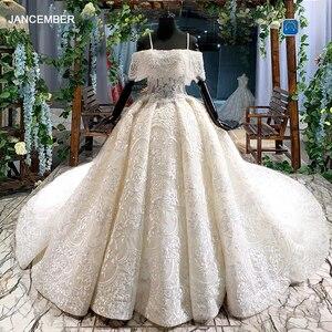 Image 5 - HTL916 ลูกไม้ชุดเดรสเจ้าสาวพิเศษเรือคอปิดไหล่ Ball gowns แต่งงานใหม่ vestido de noiva PLUS ขนาด
