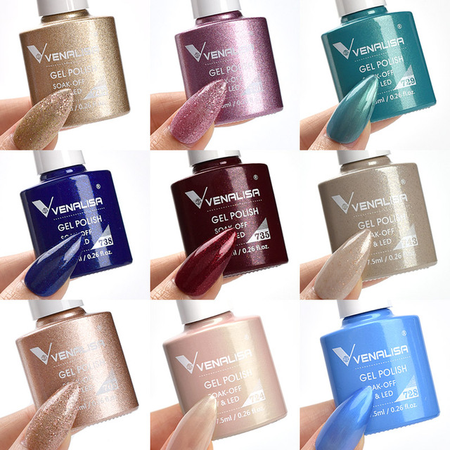 Venalisa VIP3 New Arrival Gel Nail Polish 7.5ml Upgraded High Pigmentation Glitter Gel Lacquer Nail Art Manicure Nail Gel Polish 4