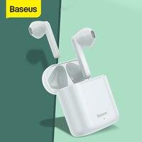 Baseus W09 TWS Senza Fili di Bluetooth del Trasduttore Auricolare Vero Auricolari Senza Fili di Tocco Intelligente di Controllo Con Stereo Dei Bassi Del Suono Smart Connect