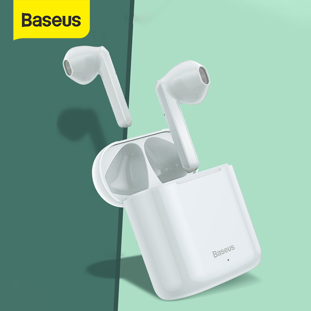 Baseus W09 TWS Wireless Bluetooth Earphone True Wireless Earbuds Intelligent Touch Control With Stereo Bass Sound Smart Connect