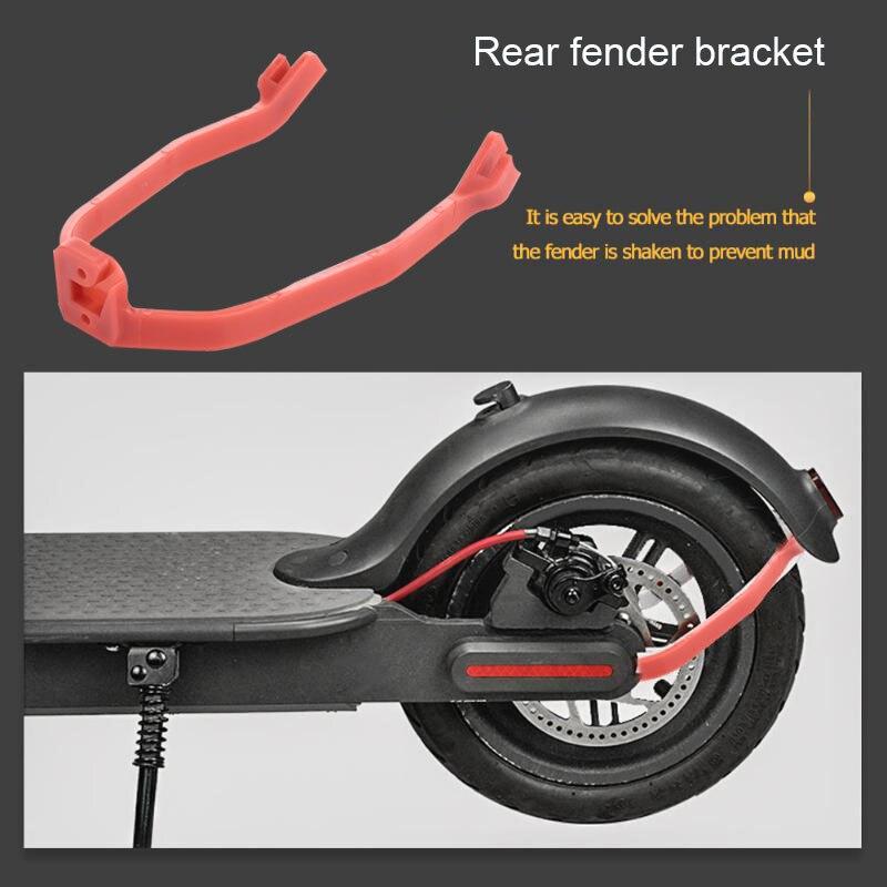 Аксессуары для скутеров, заднее крыло, игрушки, запчасти для защиты, пластиковый красный кронштейн для крыла, чехол для развлечений