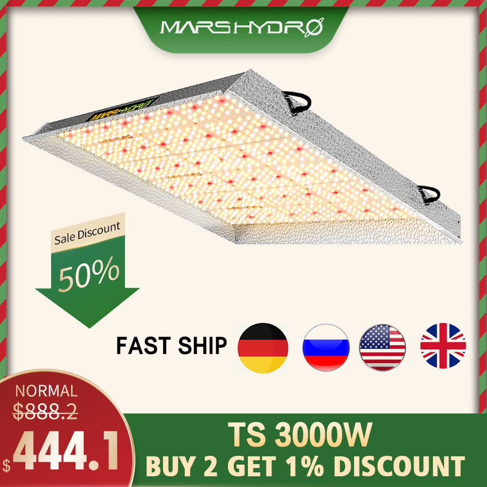 Mars Hydro Led Grow Light Full Spectrum TS 3000W Sunlike Indoor Quantum Plants For Grow Lamp Led Board Greenhouse Grow Tent