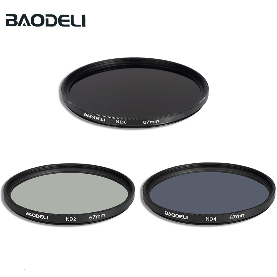 BAODELI Filtro Nd 2 4 8 Filter 49 52 55 <font><b>58</b></font> 62 67 72 77 82 Mm for Canon m50 90d 250d Nikon d3500 coolpix p900 p1000 Sony a6000 image