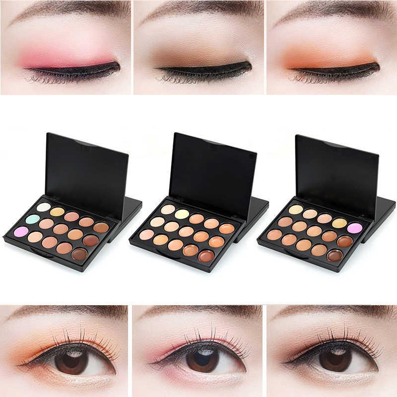 15 kleuren Matte Concealer Palette Bronzer Highlighter Concealer Crème Gezicht Corrector Waterdichte Shadow Make Up Palet TSLM2