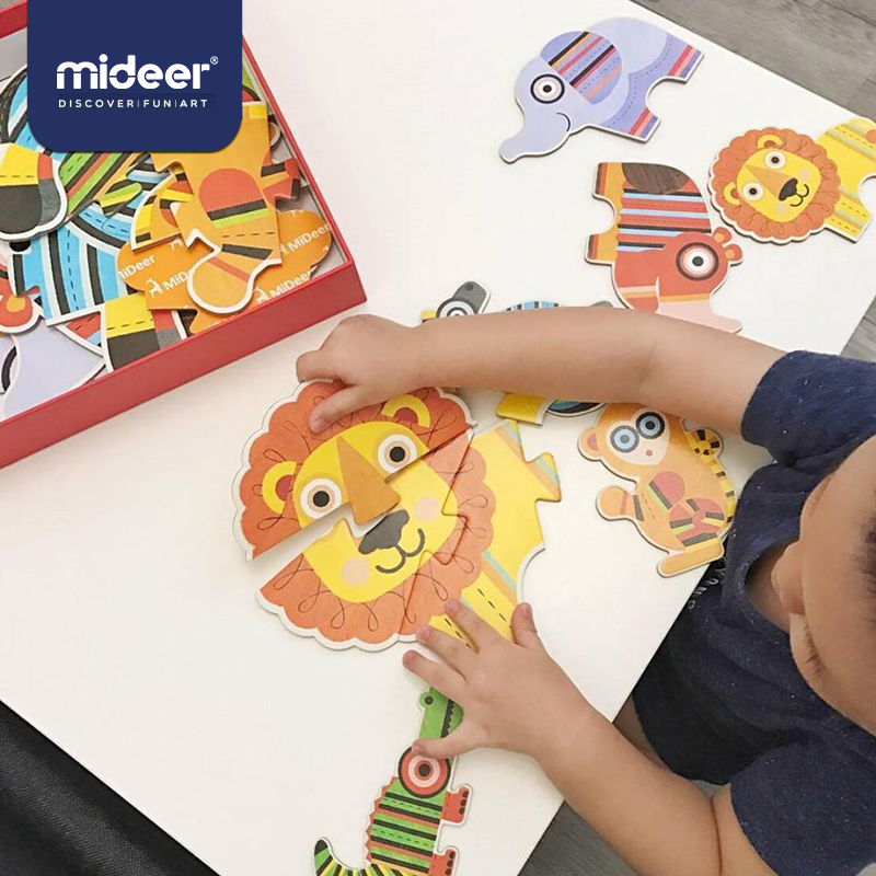 MiDeer 31pcs Puzzle Children Educational  Thick Paper Puzzle Toy Over 2Y Big Puzzle For Beginner Jigsaw Puzzle Birthday Gift