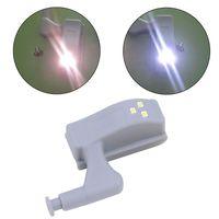 10 pçs led armário dobradiça luz guarda-roupa sensor noite lâmpada do armário da sala de casa 94 pc