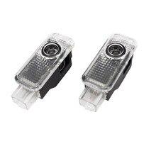 цена на 2X LED 3D Car Door Projector Logo Welcome Light For AUDI A6 C5 C6 C7 A4 B5 B6 B7 B8 B9 A5 A7 A8 Q3 Q5 Q7 A1 A3 V8 8V 8L 8P TT R8