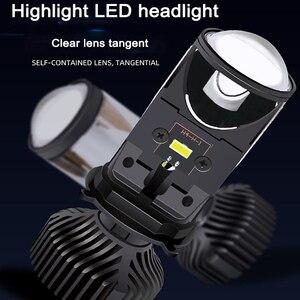 Image 2 - Nlpearl carro farol lâmpadas 20000lm h4 led canbus lente do projetor kit les kit de conversão oi/lo feixe farol 12v/24v rhd lhd