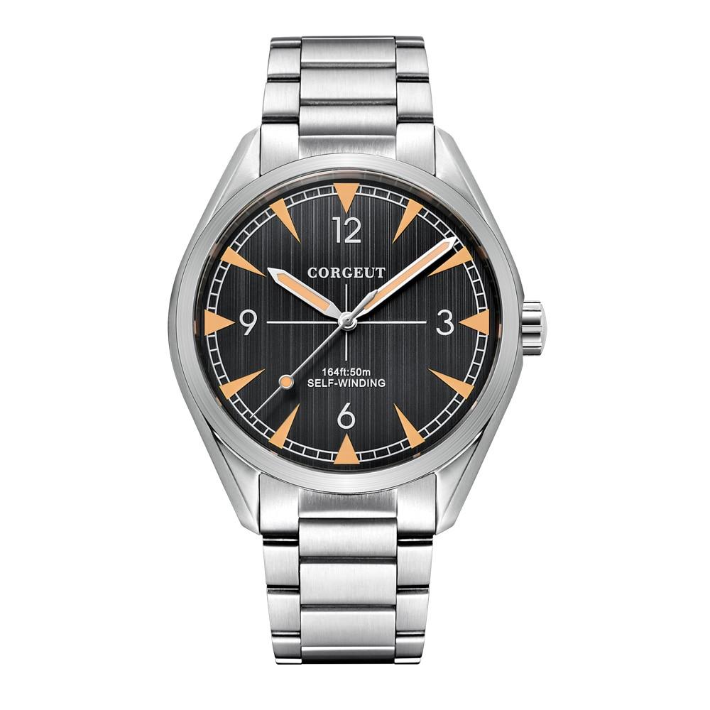 MIYOTA Automatic Watches Luxury Top Brand Sports Clock Swim Watch Self-Wind Military Stainless Steel Dress Mechanical Wristwatch