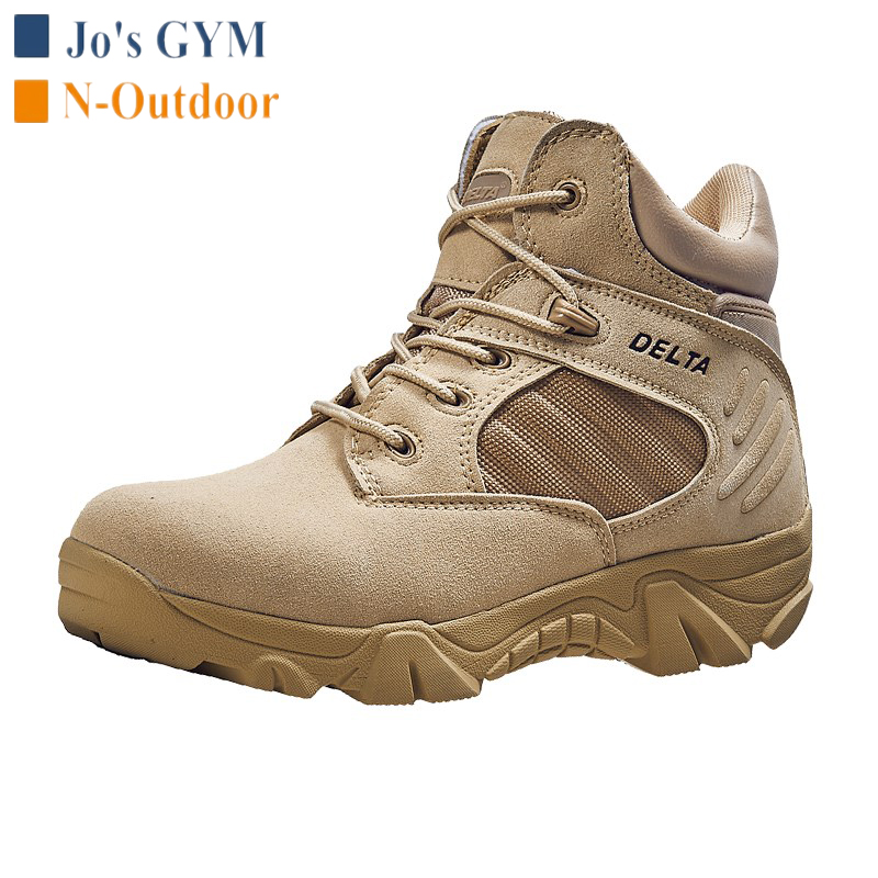 Tactical Training Leather Boots Men Women Outdoor Climbing Camping Hiking Shoes Waterproof Non-slip Military Desert Combat Boots