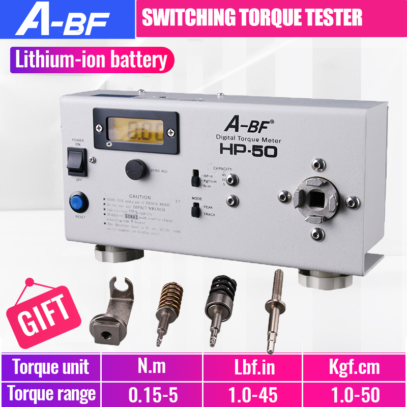 A-BF HP-50 Switching Torque Tester Motor Tester Electric Batch Electric Drill High Precision Digital Torque Meter