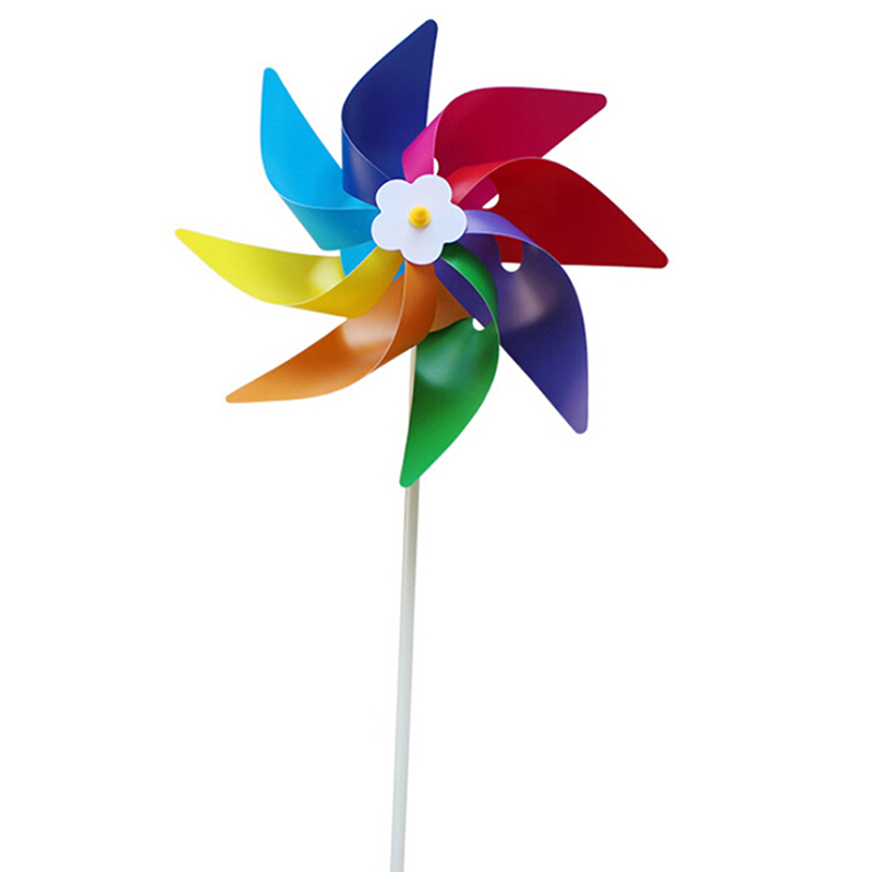 1 Pcs Garden Yard Party Camping Windmill Wind Spinner Ornament Decoration Kids Toy