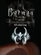Bat Rings 100% Pure 925 Sterling Silver Jewelry Adjust Vintage Batman Ring For Mens Special Christmas Gift 928