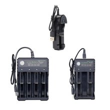 18650 Charger Single Double 4 Slot 3.7v Battery Charger Multifunction Charge Universal Flashlight Charger