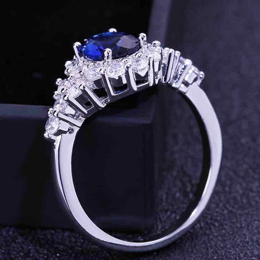אישית מתכת מלא יהלומי Microinlaid זירקון נשי טבעת תכשיטי מתנת כסף 925 תכשיטי кольцо טבעת zilver 2019 #3S21