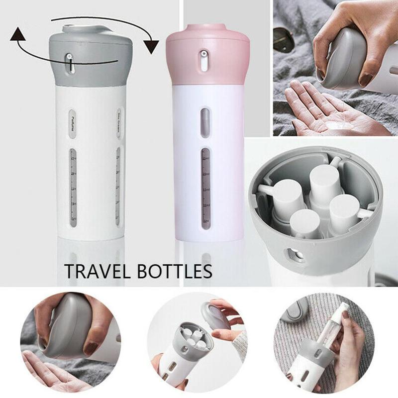Portable 4 In 1 Lotion Dispenser Bottle Travel Emulsion Bottling Shampoo Shower Travel Accessories Sub-bottle Dropshipping