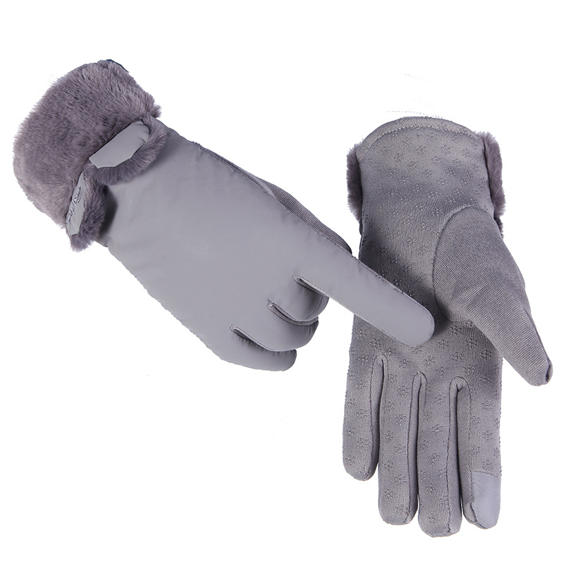 Ms. Gloves Outdoor Cycling Warm Gloves With Water-proof And Water-proof Touch Screen In Autumn And Winter