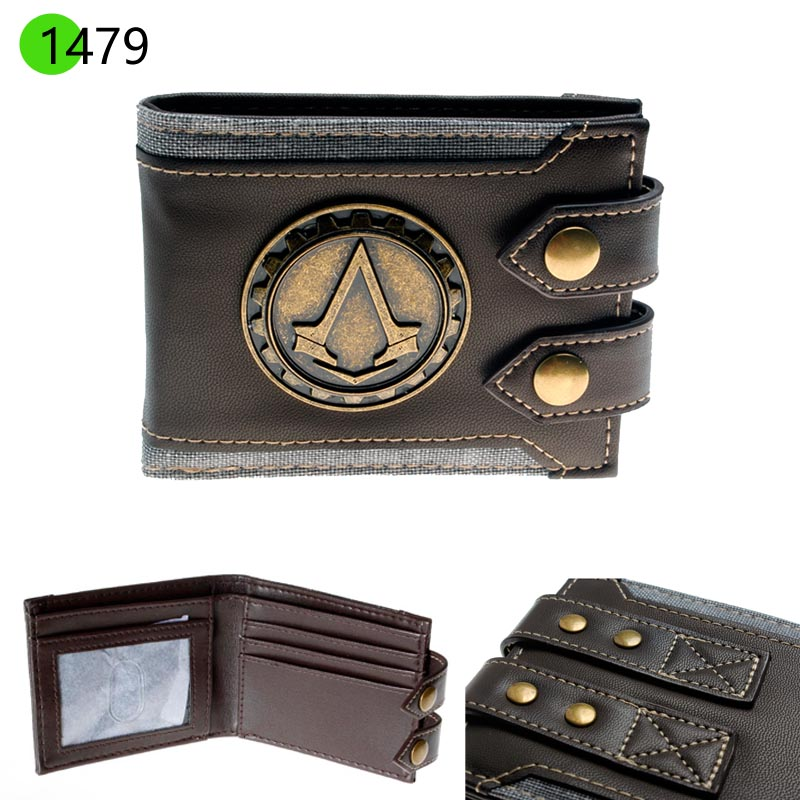 Men Wallets Small Vintage Wallet High Quality Designer Short Purse DFT1479
