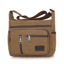 Men Shoulder Bags Handbags Vintage Retro Ideal Messenger Strong Fabric low cost stylish Crossbody multifunction Brief