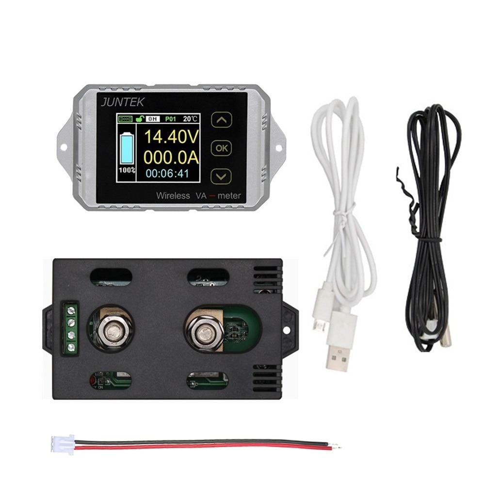 Беспроводной цифровой вольтметр JUNTEK 100 в 30 А ~ а Амперметр Многофункциональный измерительный двунаправленный Вольтметр Амперметр VAT1100 изме...