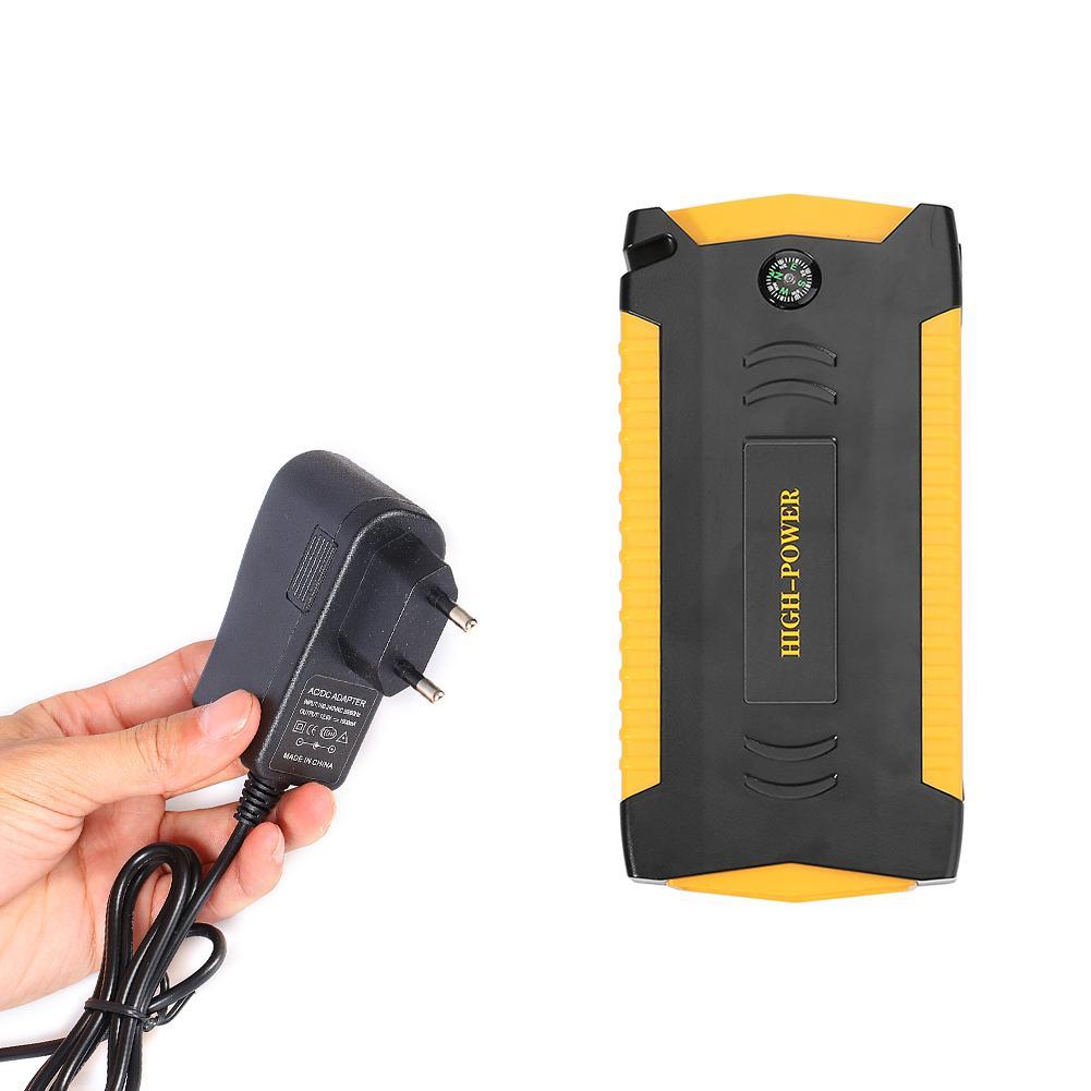 Автомобильные аксессуары авто переносной пусковой аккумулятор стартер скачка 12В мини чрезвычайное Мощность Дополнительный внешний аккумулятор с светодиодный светильник и USB Зарядное устройство